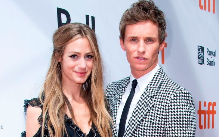 Actor Eddie Redmayne and wife Hannah Bagshawe attend 'The Aeronauts' premiere at the Roy Thompson Hall during the 2019 Toronto International Film Festival