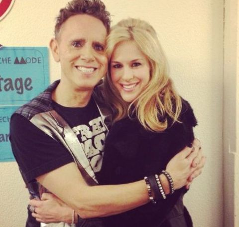 Kerrilee Kaski with her husband Martin Lee Gore, an English songwriter, musician, singer, record producer, remixer, and DJ.