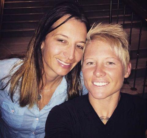 Jennifer Kish with her lesbian partner, Nadene.