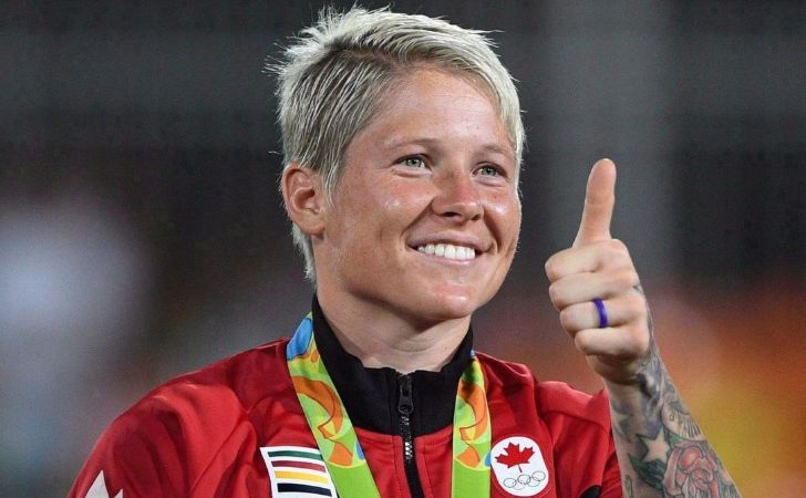 The Canadian rugby player Jennifer Kish is a millioaire.