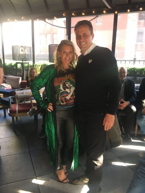 Amber Fisch poses a picture with husband Jedd Fisch.