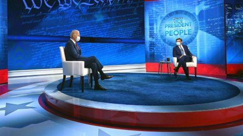 George Stephanopoulos with Joe Biden