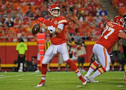 Chad Henne plays with the Kansas City Chiefs