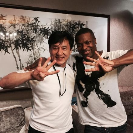 Chris with well-known Chinese Martial Artist Jackie Chan
