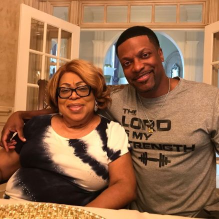 Chris Tucker with his mother, Mary Tucker