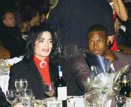 Chris Tucker with American singer and songwriter, Michale Jackson.