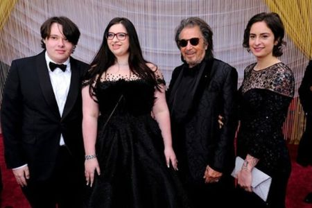 Al Pacino and his children Anton James Pacino, Olivia Rose Pacino and Julie Marie Pacino.