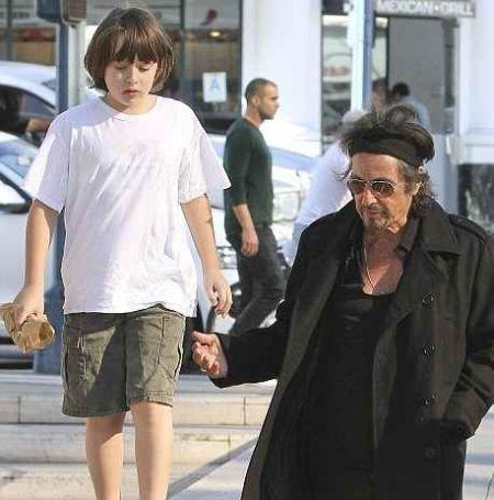 Famous actor Al Pacino with his son Anton James Pacino, who was born in 2001.