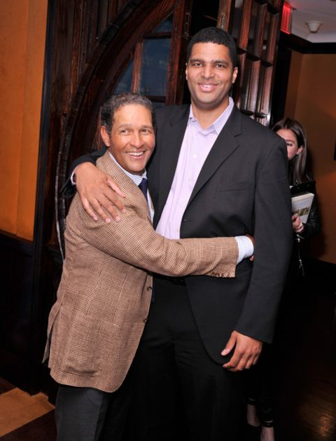 Bradley Christopher Gumbel  with his father