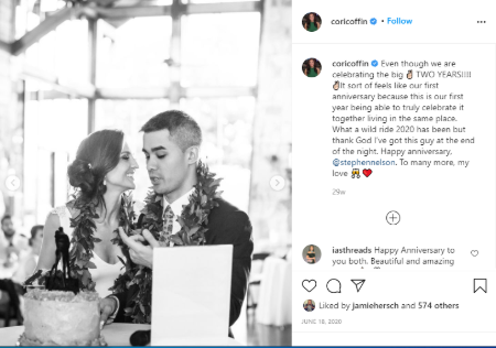 Cori Coffin started dating Stephen in 2012.