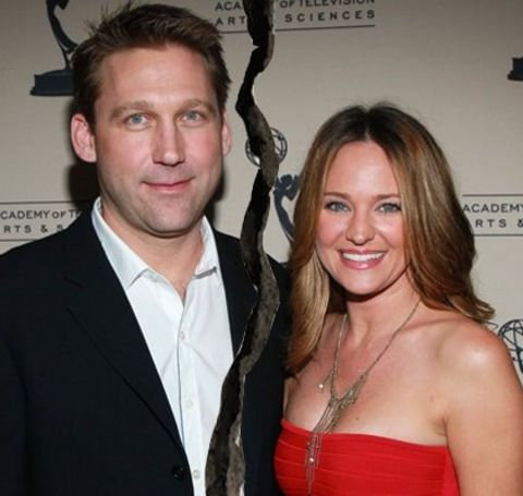 Sandy Corzine with his ex-wife, Sharon Case.