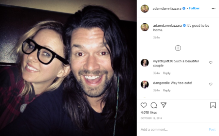 Adam Lazzara  is happily married to wifewife Misha Vaagen.
