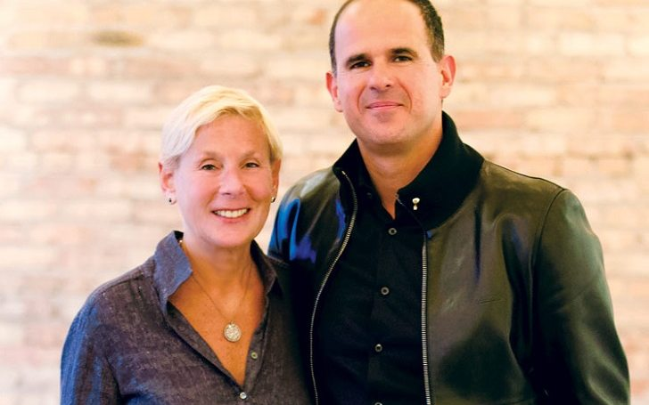 Ila Lemonis's ex-husband Marcus Lemonis poses a picture with his new spouse.
