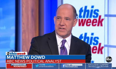 Matthew Dowd as the political analyst of ABC News.