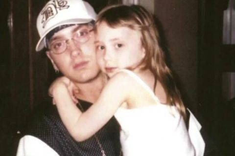 Whitney Scott Mathers with her dad Emine