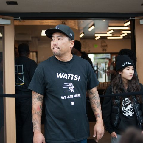 Kaelyn Choi and her father Roy Choi