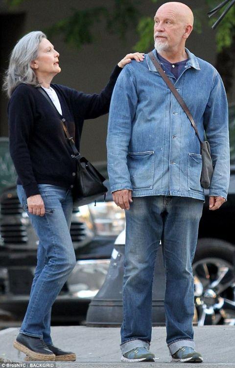 Nicoletta Peyran and her partner John Malkovich.