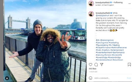 Brendyn Hatfield is excited to perform alongside LAdy Leshurr in Dancing on Ice.