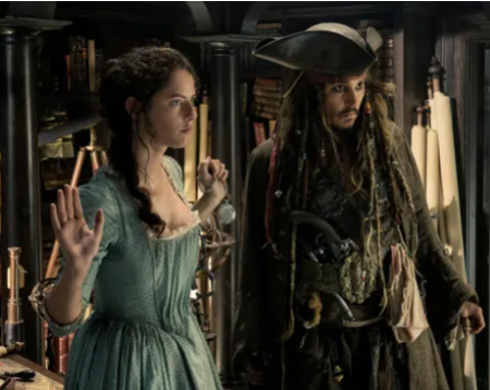 Kaya Scoldelario plays her part inPirates of the Caribbean: Dead Men Tell No Tales.