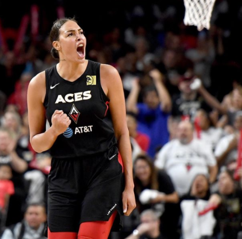 Liz Cambage plays in the WNBA