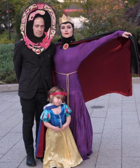 Caroline Estabrook parents on halloween