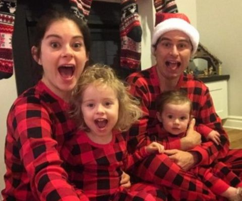 The Toronto Star journalist Robyn Doolittle's husband and their kids.