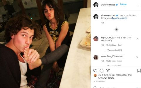 Canadian singer and songwriter Shawn Mendes kissed Camila Cabello's foot, which set social media ablaze with chatter.