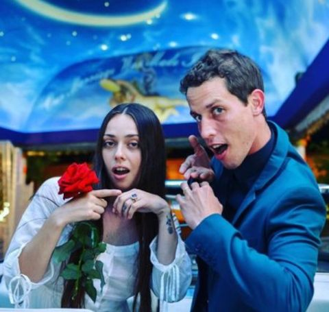 Tony Hinchcliffe shared the vows with his wife, Charlotte Jane.