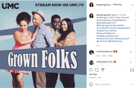 Tracey starts alongside Jayphilips and Garygthang Johnson in Grown Folks.