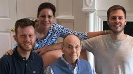 Valerie Parr Hill's sons Gene lost his arm.