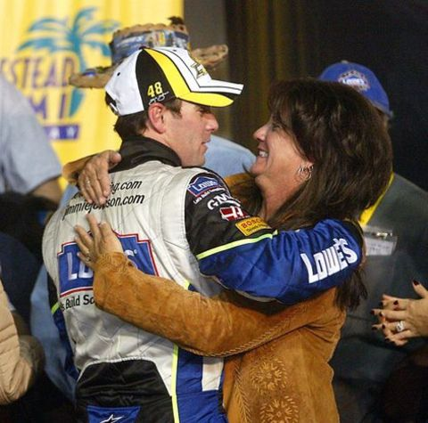 Catherine Ellen Dunnill and her son Jimmie Johnson