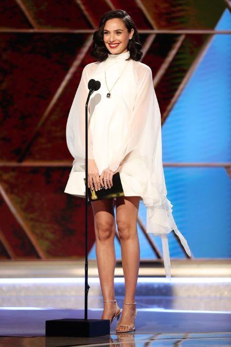 Gal Gadot look in 78th Annual Golden Globe Award