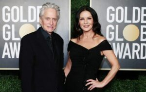 Catherine Zeta Jones shares two children with husband Douglas.