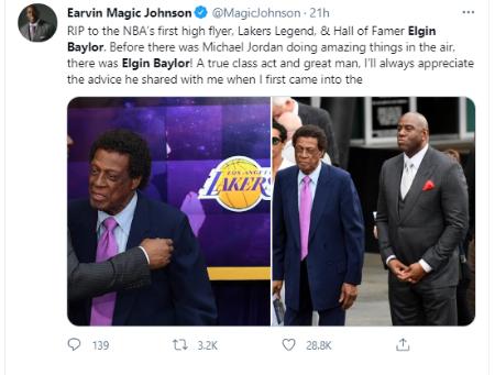 Elgin Baylor was known as Hall of Fame basketball player.