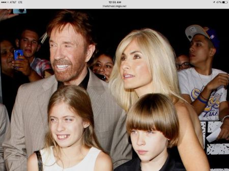 Gena O'Kelley shares twins with husbandChuck Norris