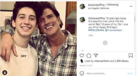 Jeffrey Brezovar's social media is showered with pictures of son Milo Manheim