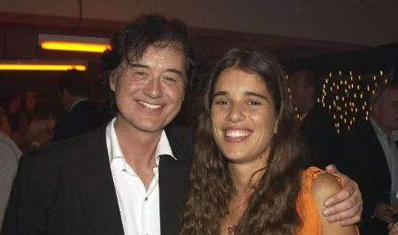 Jimmy Page met Jimena Gomez on tour in Brazil.