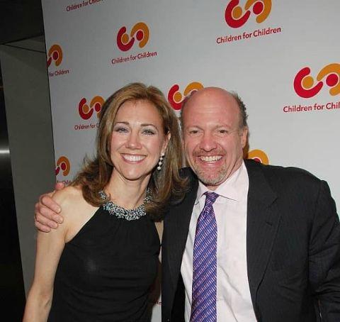 Karen Backfisch-Olufsen and her ex-husband Jim Cramer