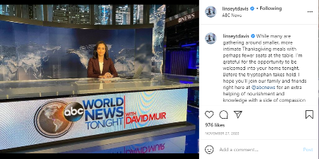 Linsey Davis works at ABC news.