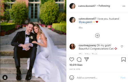 Pau Gasol and Catherine McDonnell are married for two years.