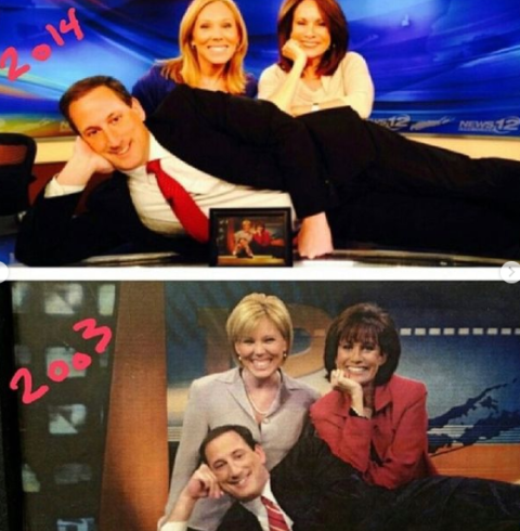 Elizabeth Hashagen and her colleagues from News 12.