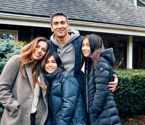 Sangita Patel and her family