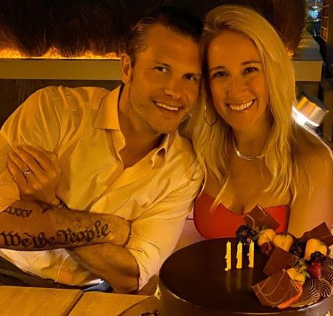 Jennifer Hagseth and her husband Pete Hagseth on a date