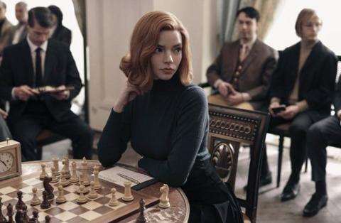 Anya Taylor-Joy as Beth Harmon in The Queens Gambit