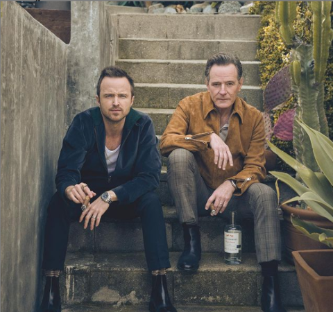 Aaron Paul and his co-actor Bryan Cranston.