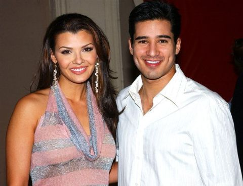 Ali Landry accompanied by her ex Mario Lopez.