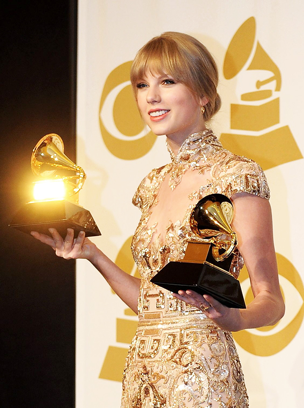 Taylor Swift made history by being the only female artist to win Album of the Year three times.