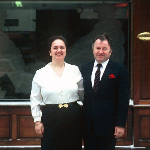 Felice Bastianich with ex wife Lidia Bastianich