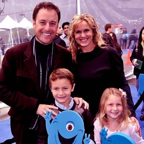 Chris Harrison with his ex wife and children