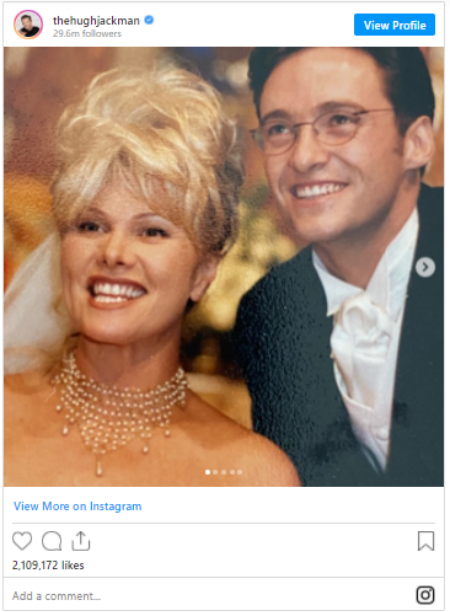 Hugh Jackman married Deborra Furness in 1995.
